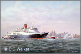 Cunard Liner Caronia (ex Vistafjord) in the Mersey